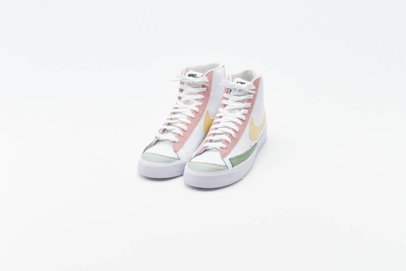 Nike Women's Blazer Mid '77 White/Lemon Drop-Regal Pink