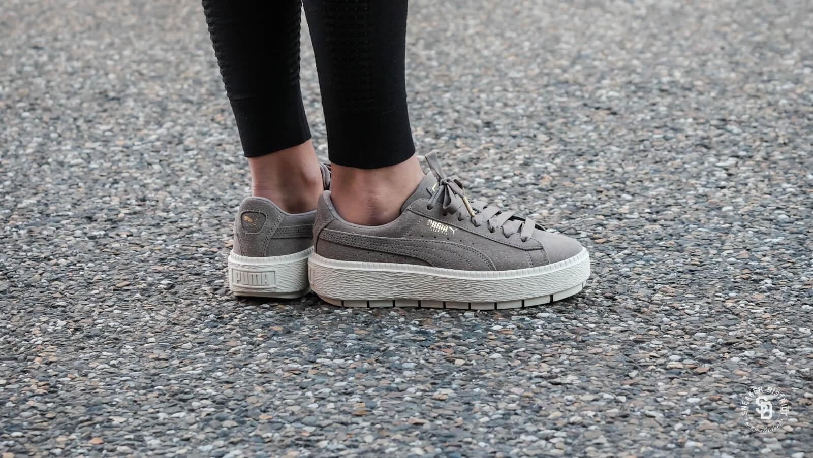 puma rock ridge suede platform sneakers