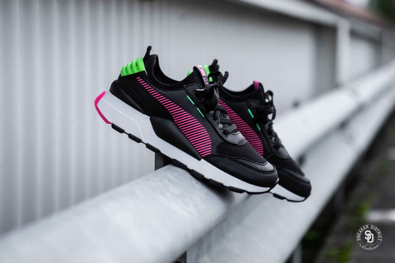 Puma RS-0 Rein Black/Pink-Green - 371828-03