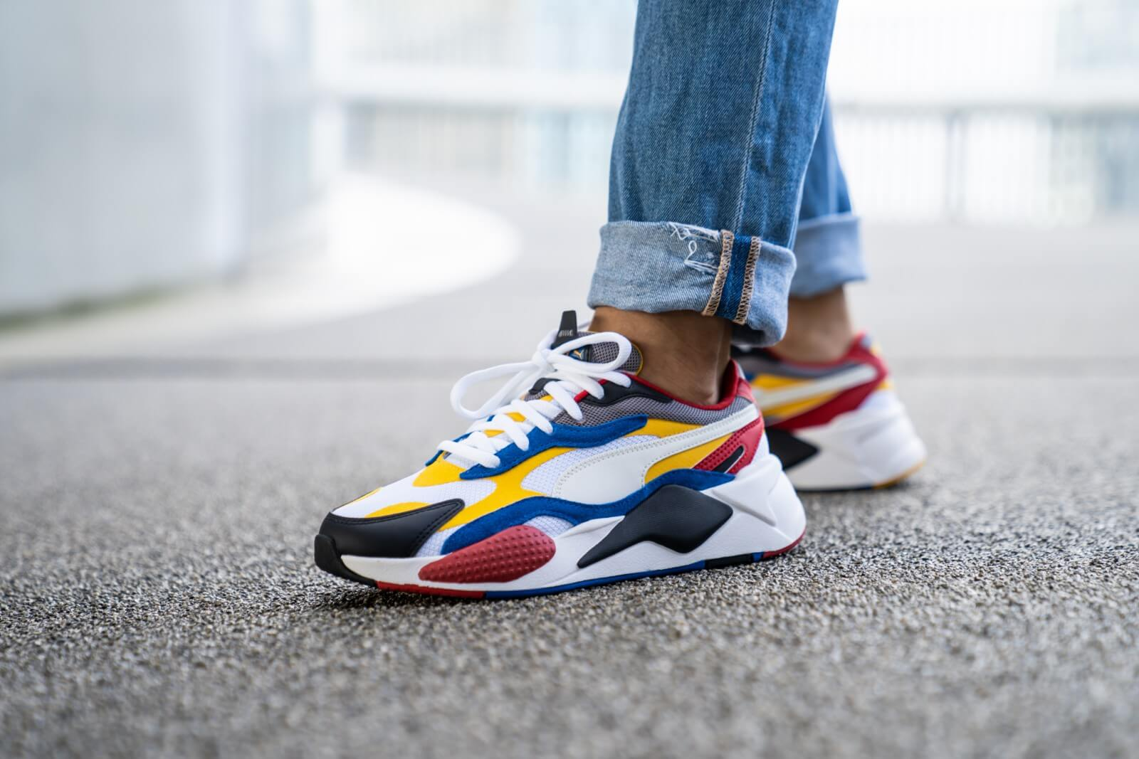 Puma RS-X3 Puzzle Puma White/Spectra Yellow - 371570-04