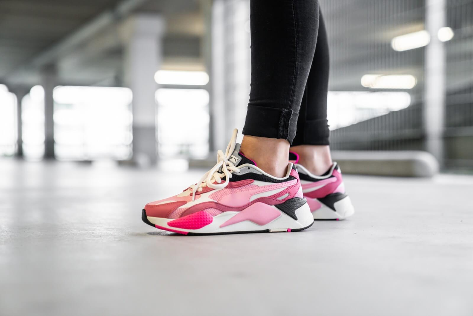 Puma RS-X3 Puzzle Rapture Rose/Peony-White - 371570-06