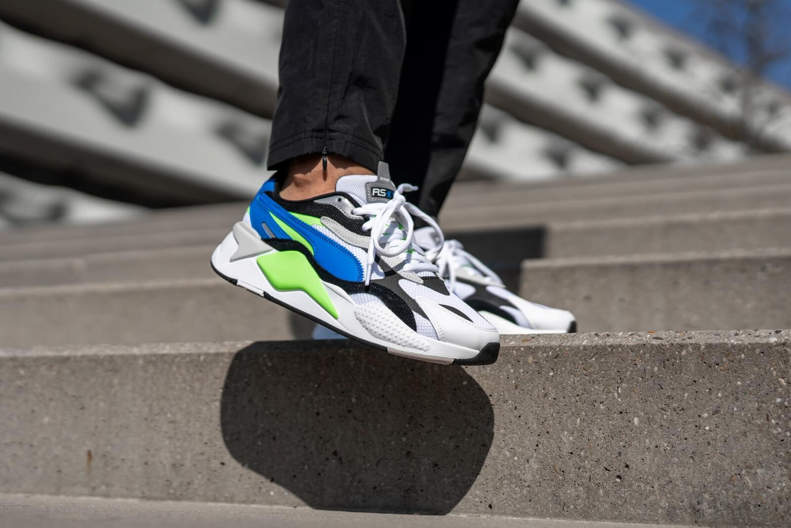 Puma RS-X3 Puzzle Soft Puma White/Electric Blue Lemonade - 368826-01
