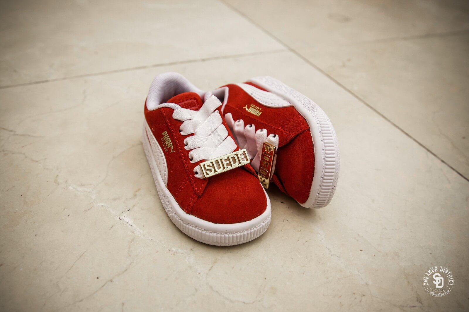 Red Boys Puma Suede Classic Bboy Fabulous Infant Sneakers