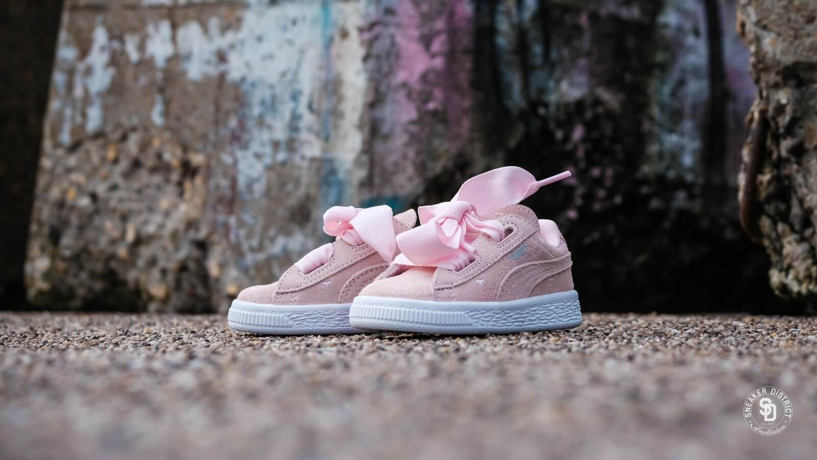 Puma Suede Heart Valentine Infant Pearl - 365137-03