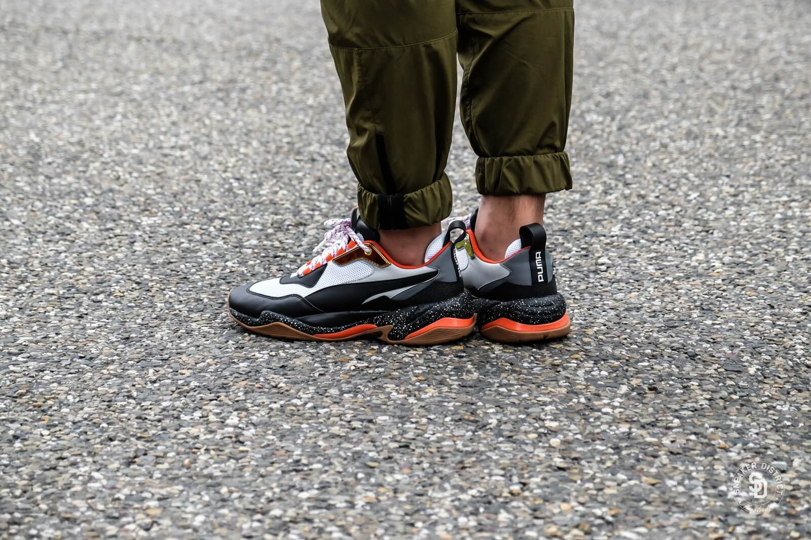 Puma Thunder Electric White Black/Mandarine Red - 0367996-01