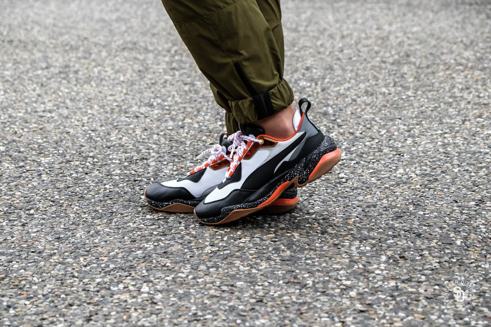 puma thunder electric mandarin red