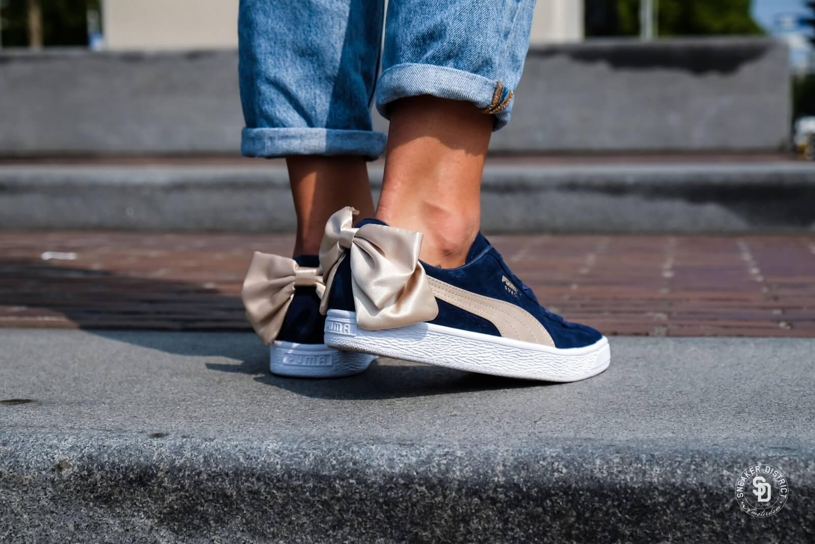 puma suede bow varsity women's sneakers