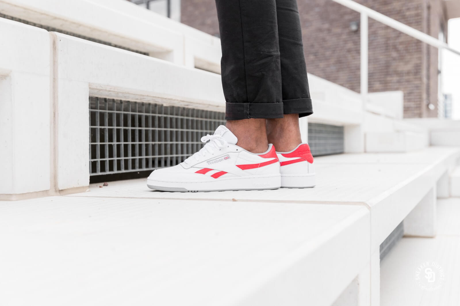 classic fit authentic quality really cheap Reebok Revenge Plus MU White/Primal Red-Tin Grey - CN3396