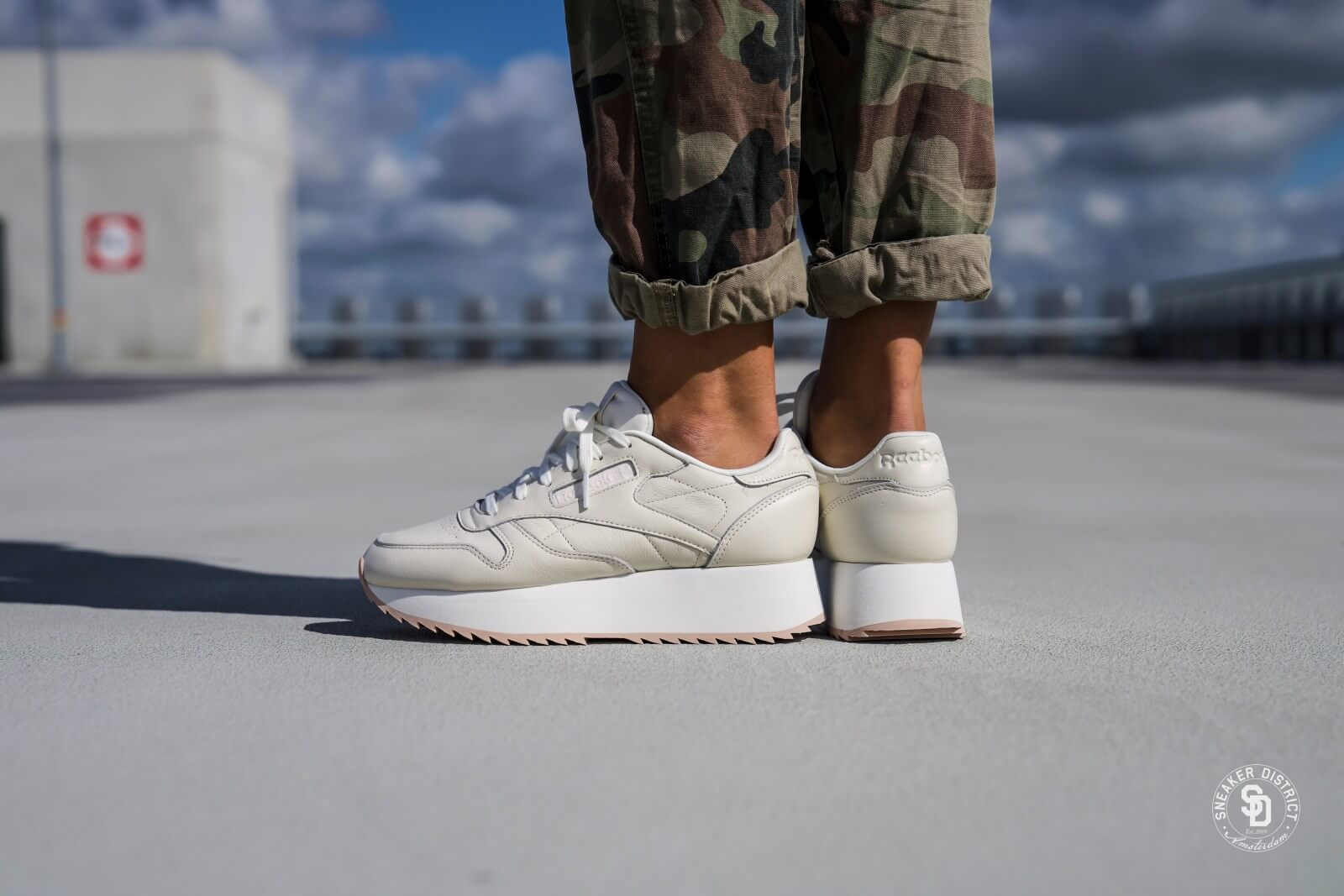 reebok leather double - 58% OFF