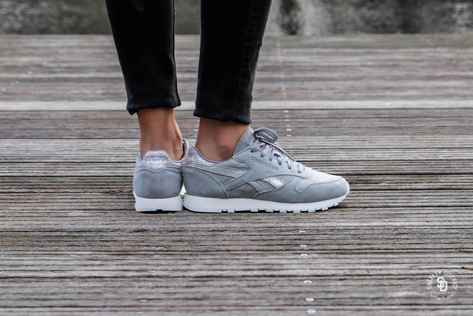 reebok leather grey