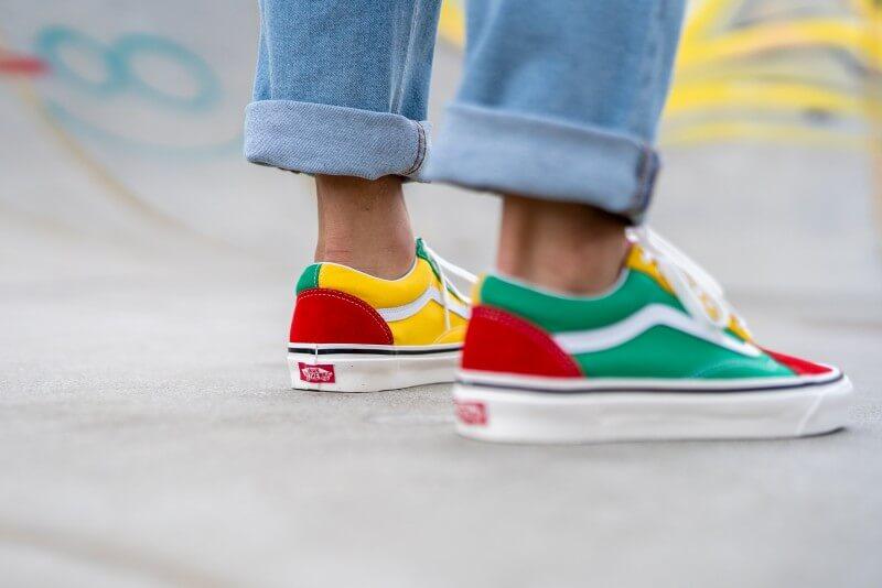 Vans Old Skool 36 DX Anaheim Factory OG Red/OG Emerald-Yellow