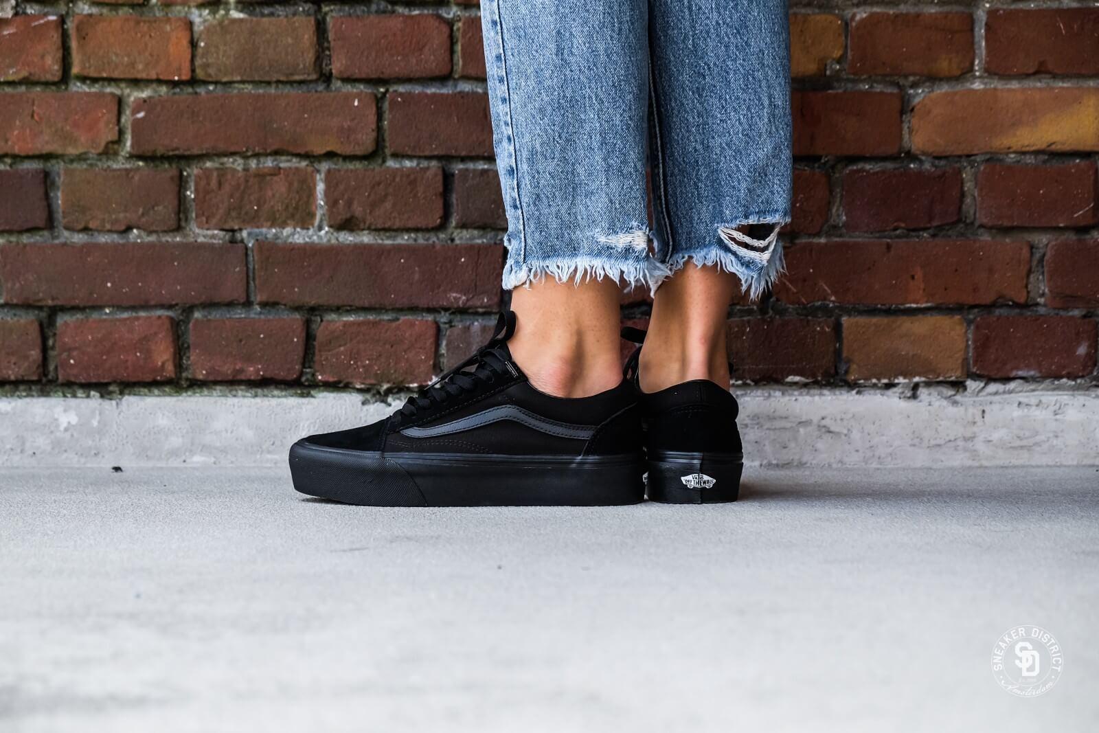 köp billigt special för sko höstskor Vans Old Skool Platform Black/Black - Sneaker District