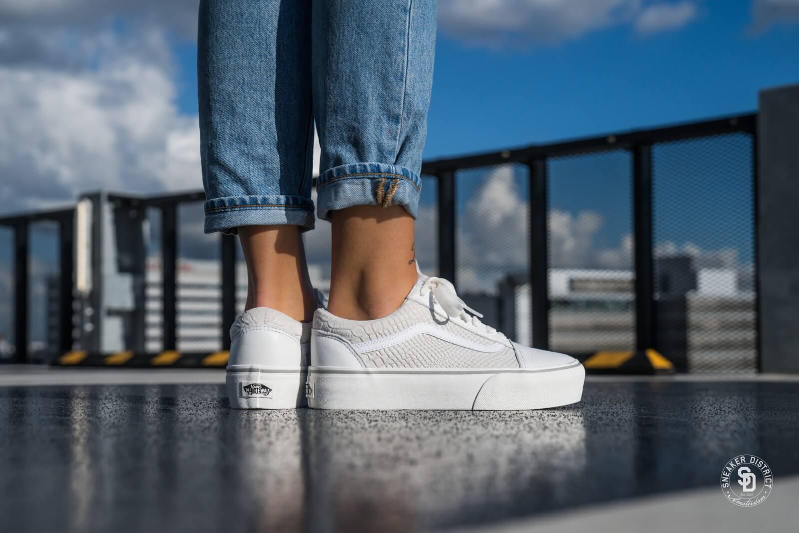 vans old skool platform white