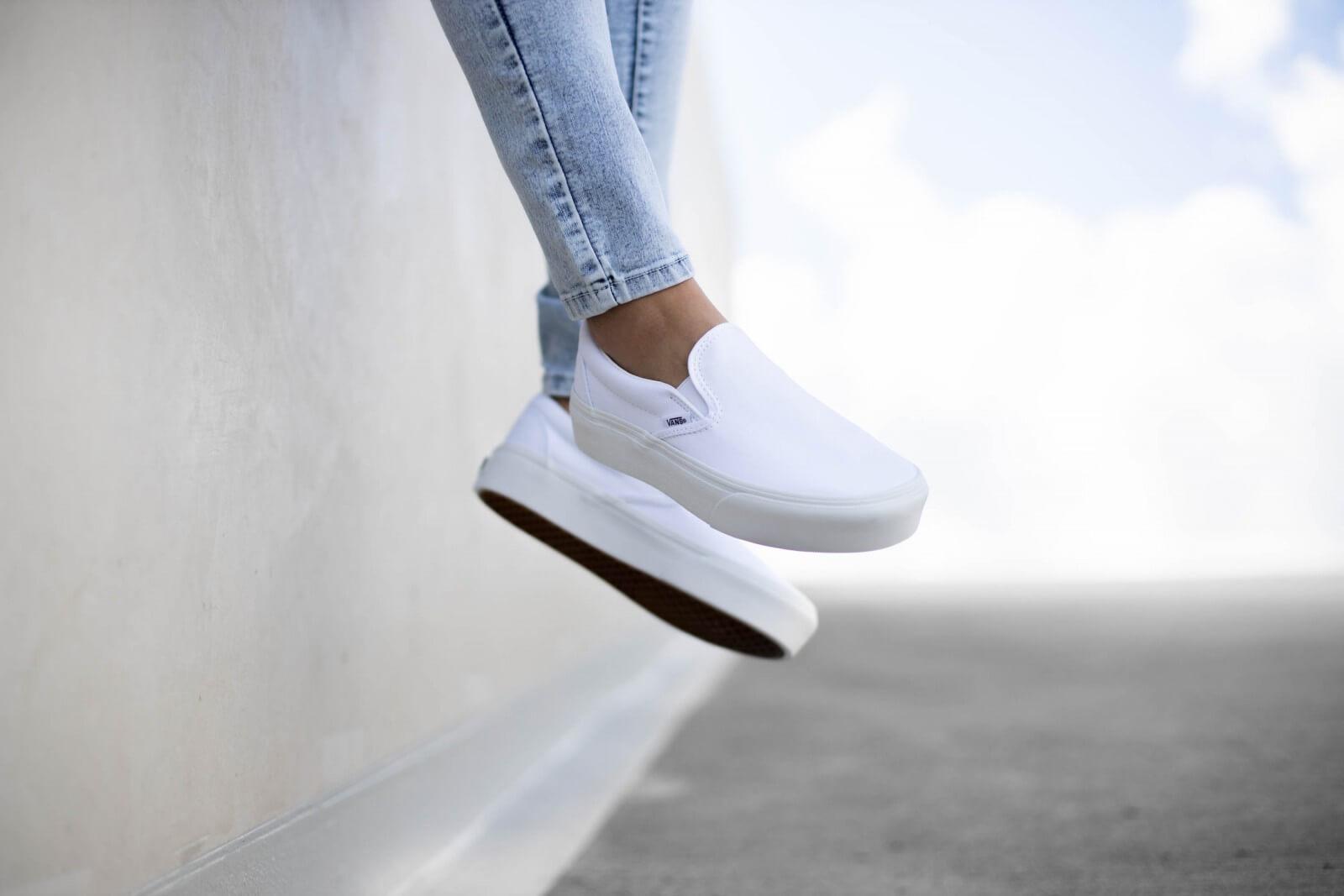 buy \u003e white slip on platform vans, Up