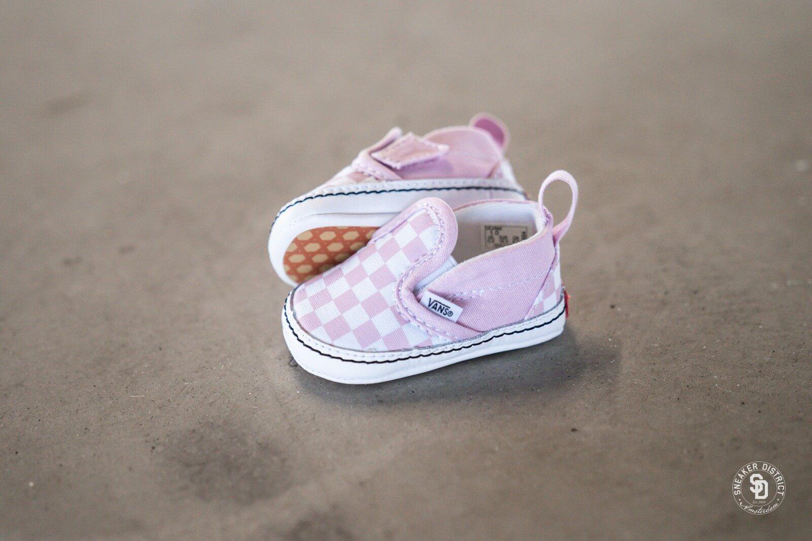 Vans Slip On V Crib Checkerboard Pink VN0A2XSLUY41