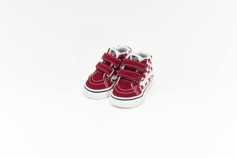 Vans Sk8-Mid Reissue V Checkerboard Pomegranate/True White