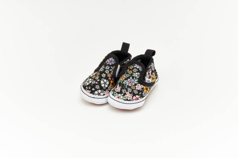 Vans Slip-On V Crib Fun Floral Black/True White