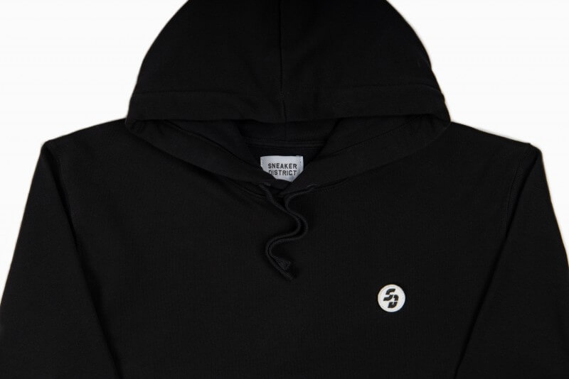Sneaker District Velcro SD Patch Hoodie Black