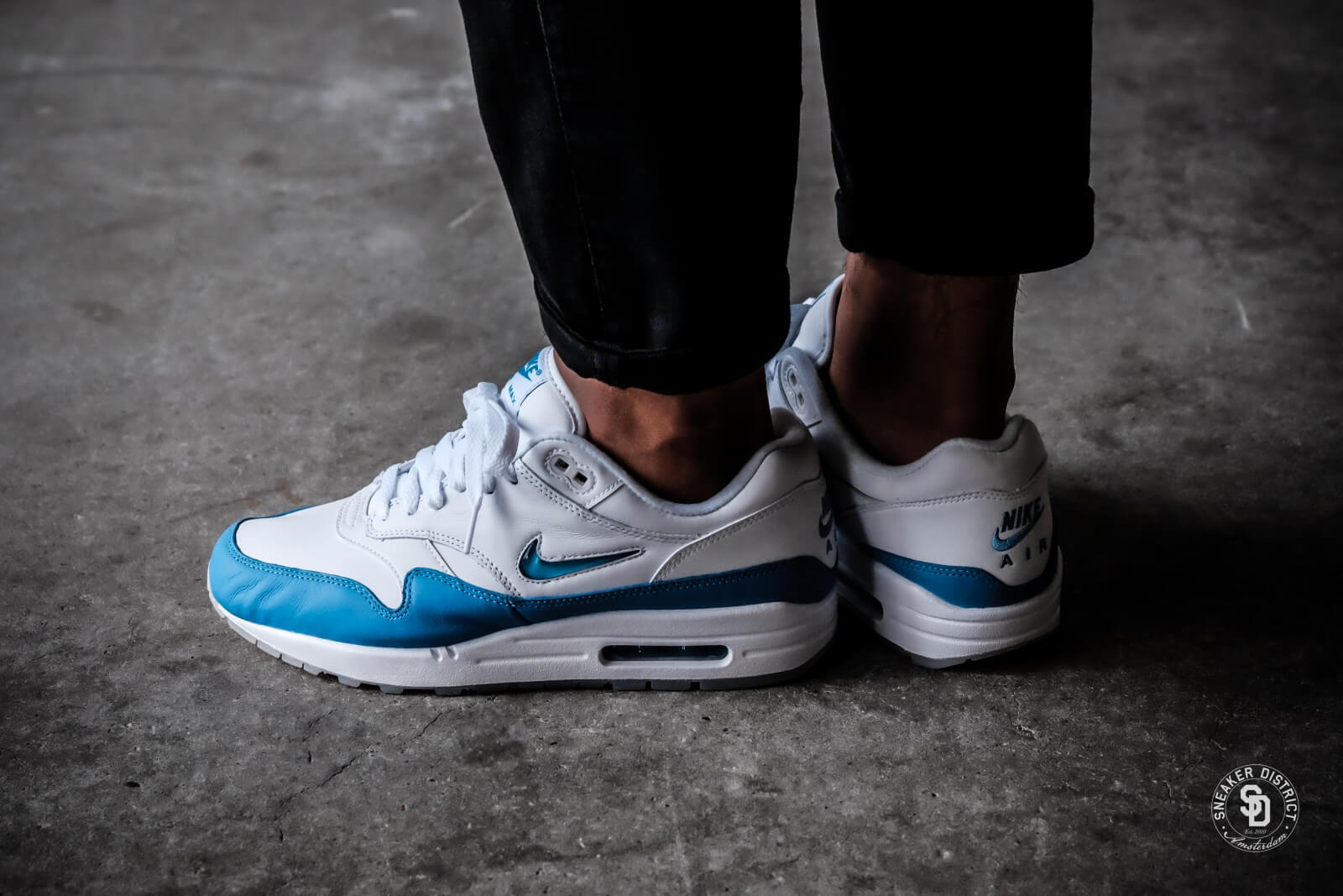 Nike Air Max 1 Premium SC Jewel WhiteUniversity Blue 918354 102