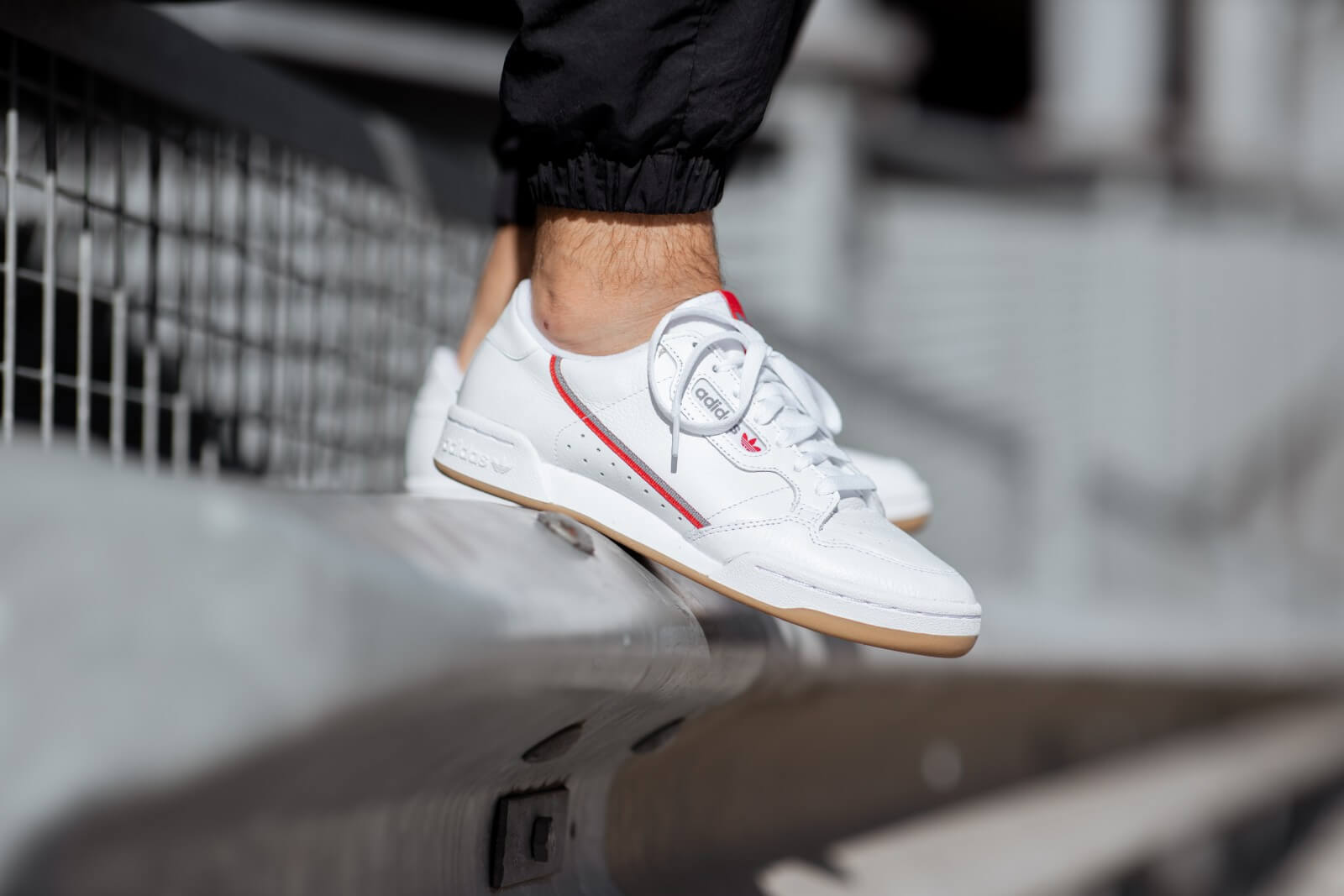 Adidas Continental 80 Cloud White/Grey Three-Red - FV0356
