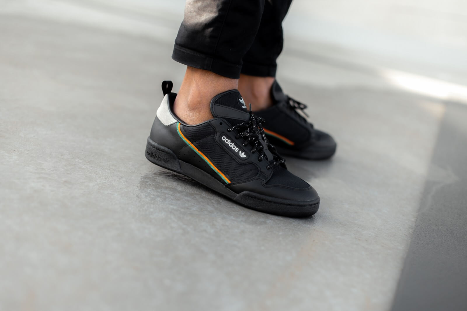 Adidas Continental 80 Core Black/Orange-Green - EE5597
