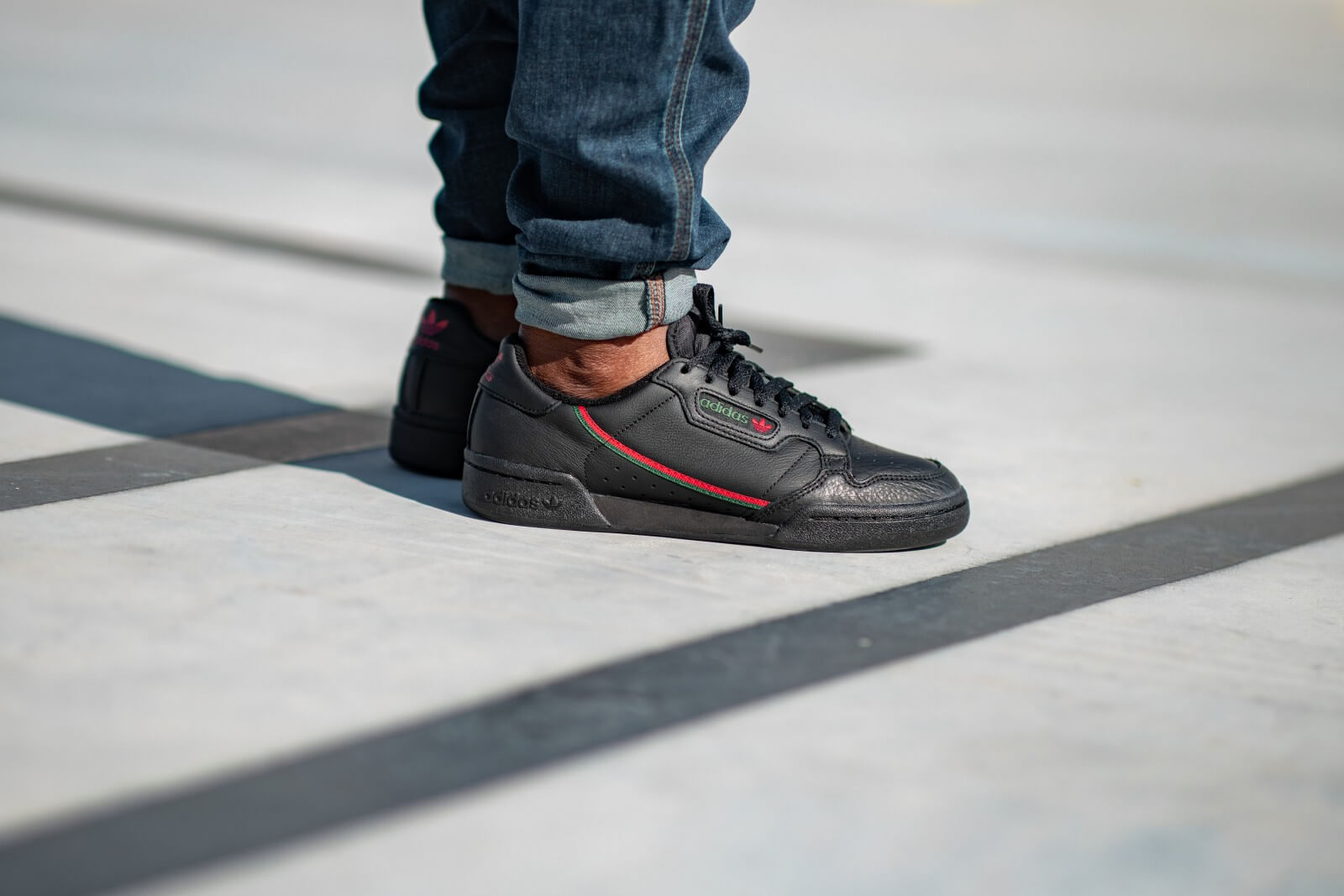 Adidas Continental 80 Core Black/Scarlet-Green - EE5343