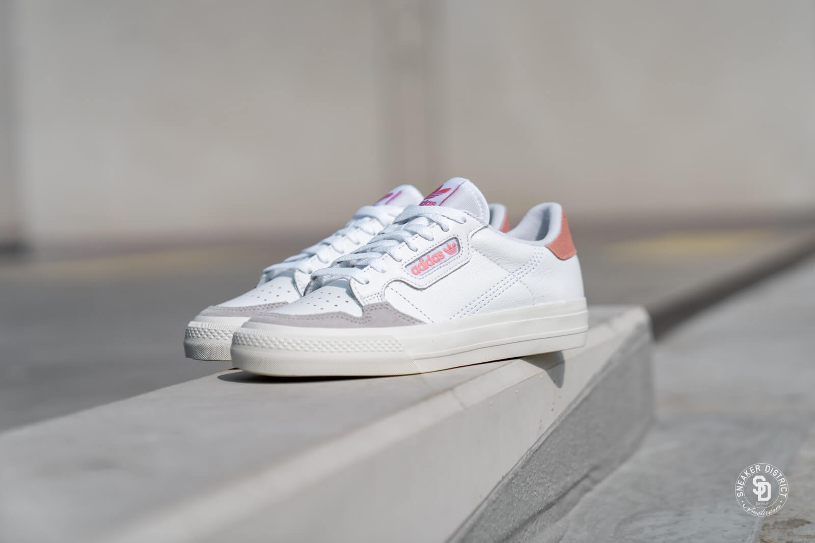 Adidas Continental Vulc Cloud White/Glow Pink - EF3535