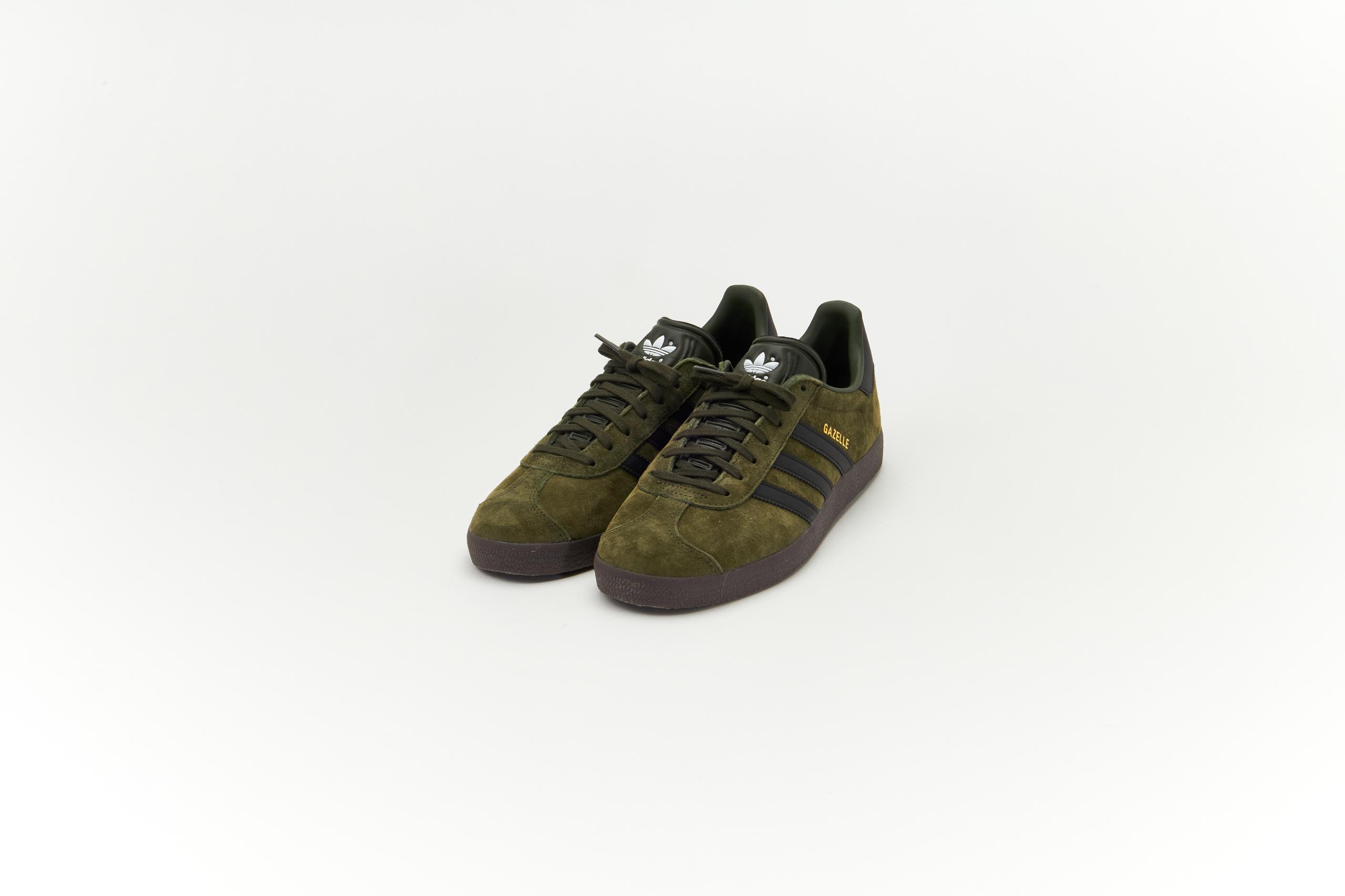 Adidas Gazelle Night Cargo/Core Black-Gum5