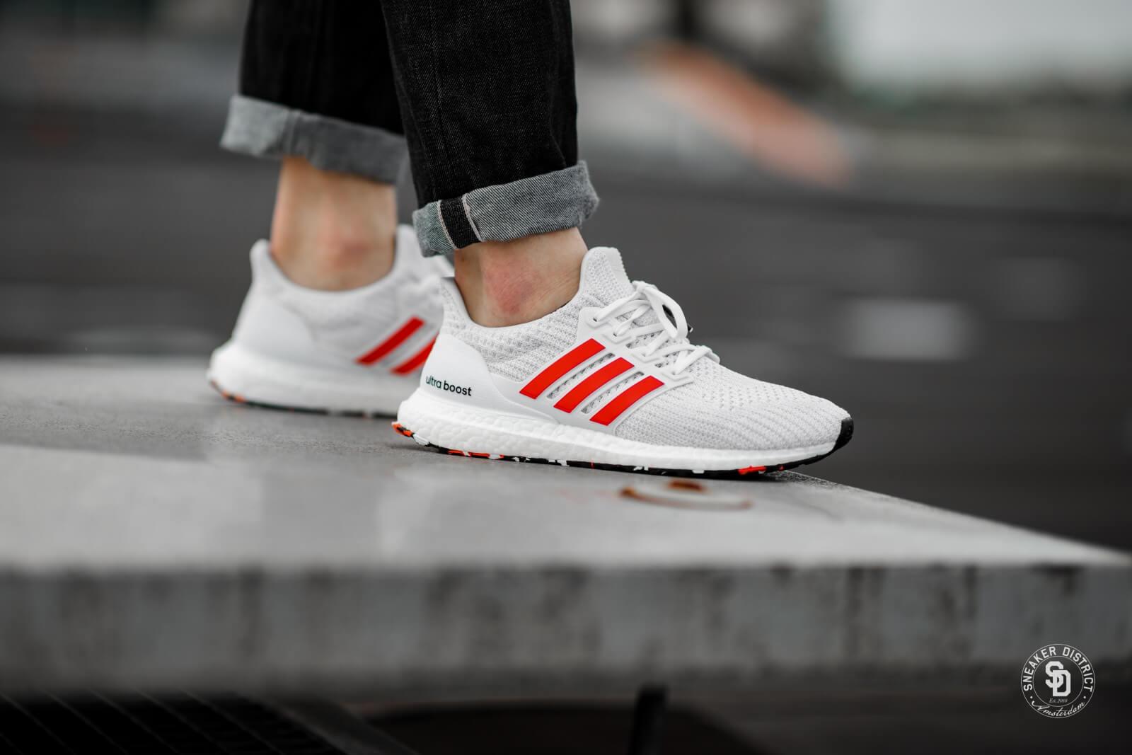 Adidas Ultra Boost 4.0 Footwear White Laser Red DB3199