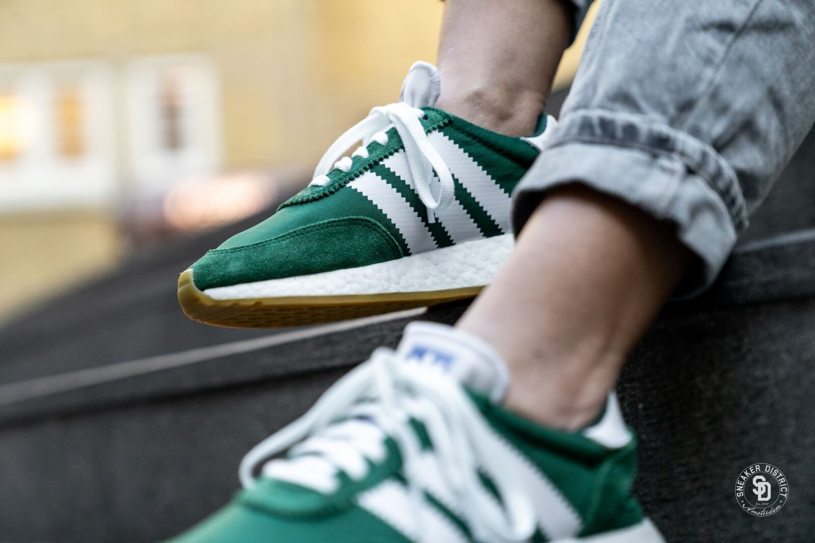 adidas women's green sneakers