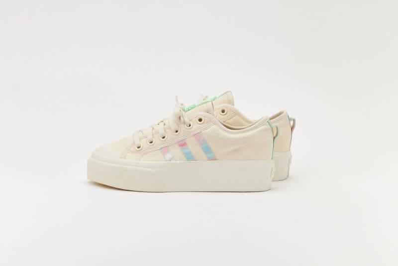 Adidas Women's Nizza Platform Chalk White/Frozen Green