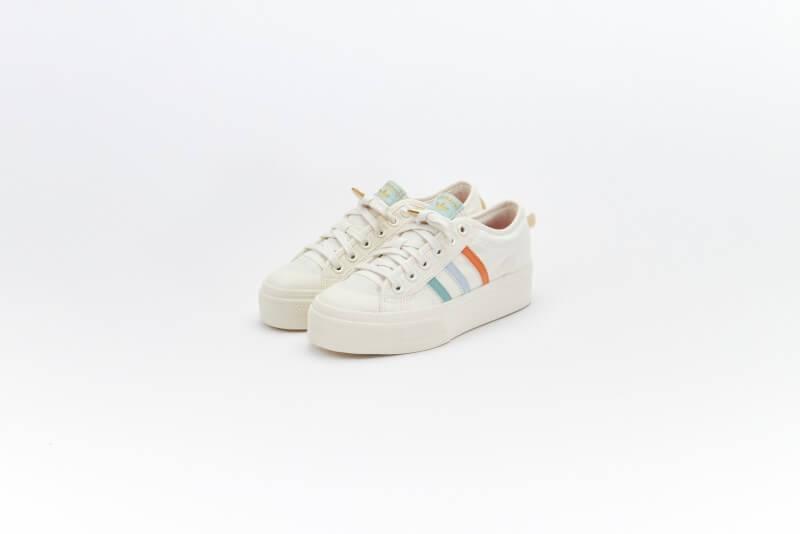 Adidas Women's Nizza Platform Cloud White/Off White-Halo Blue