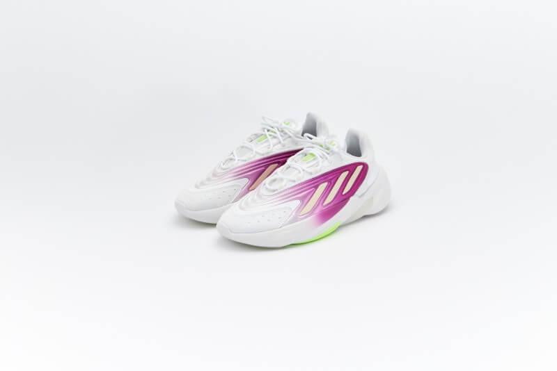 Adidas Women's Ozelia Cloud White/Wonder White/Signal Green