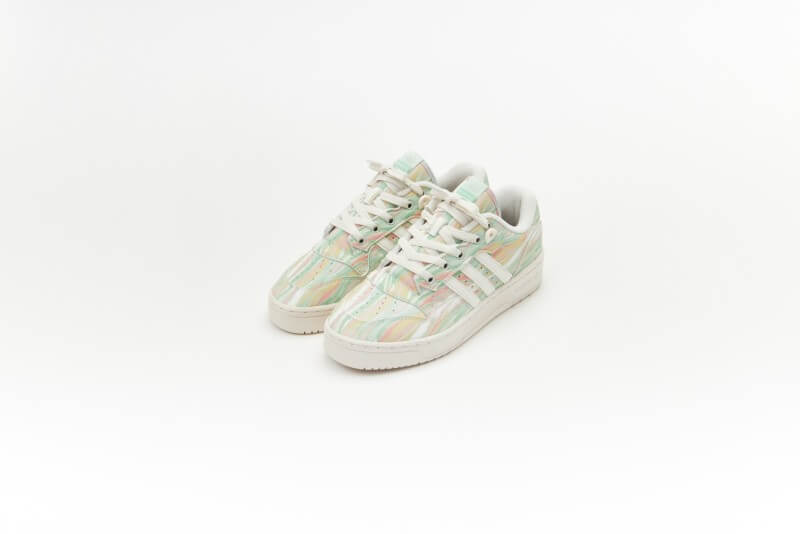 Adidas Women's Rivalry Low Chalk White/Frozen Green
