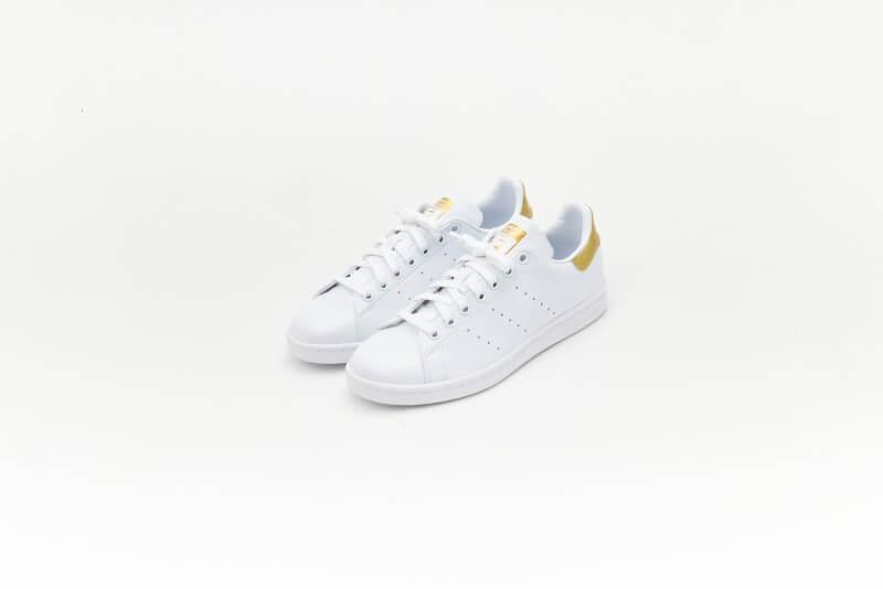 Adidas Women's Stan Smith Cloud White/Gold Metallic