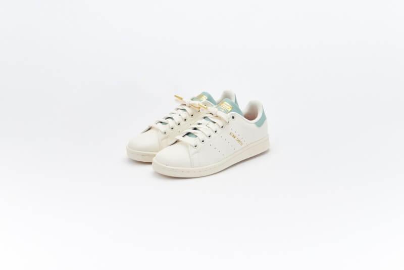 Adidas Women's Stan Smith Cloud White/Off White-Hazy Green