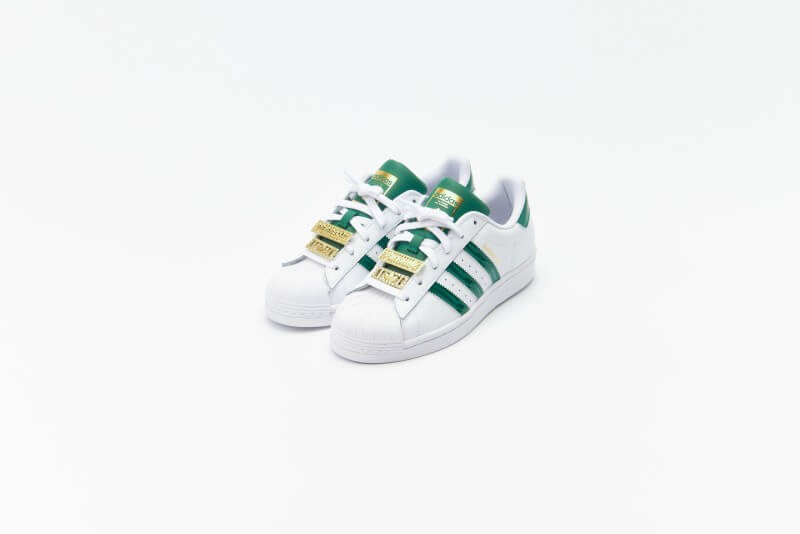 Adidas Women's Superstar Footwear White / Collegiate Green / Matte Gold