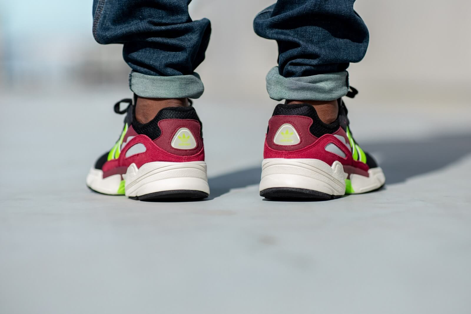 Adidas Yung-96 Black/Burgundy-Volt - EE7247