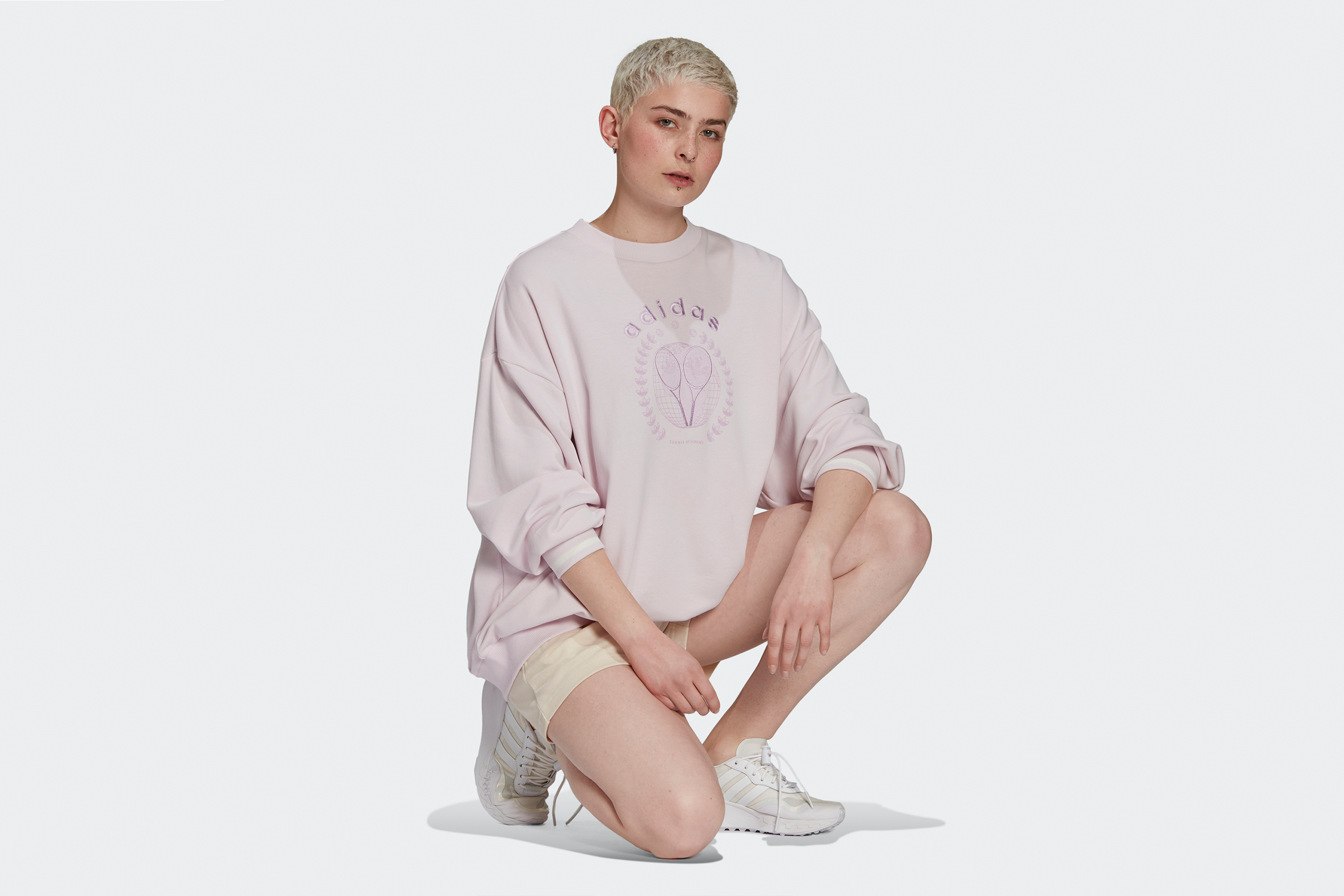 Adidas Women's Graphic Sweater Tennis Luxe Pack Pearl Amethyst