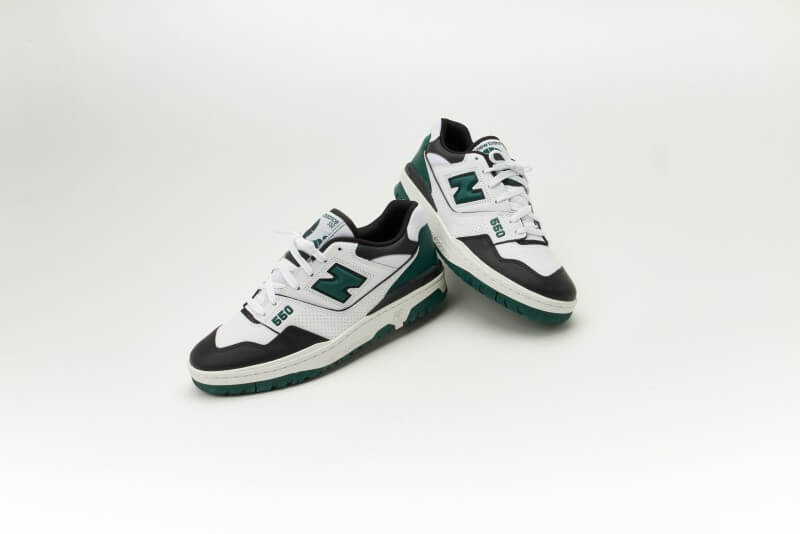 New Balance BB550LE1 White / Black - Green