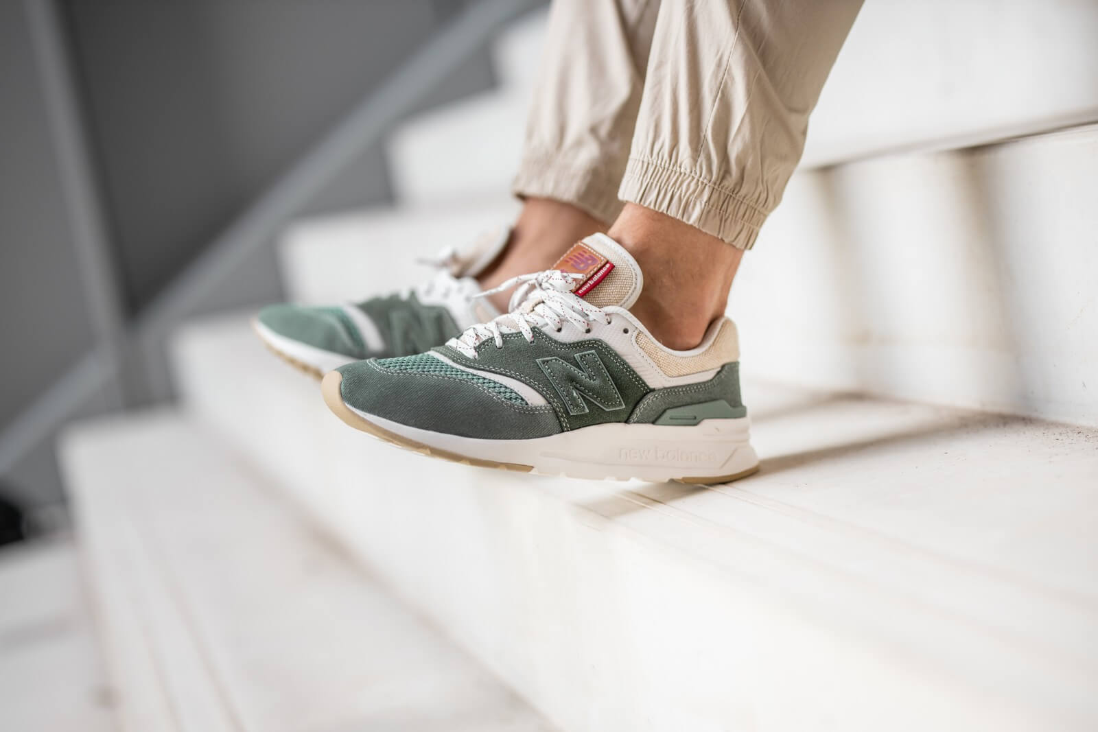 New Balance CM997HEI Slate Green/Moonbeam - 774431-60-6