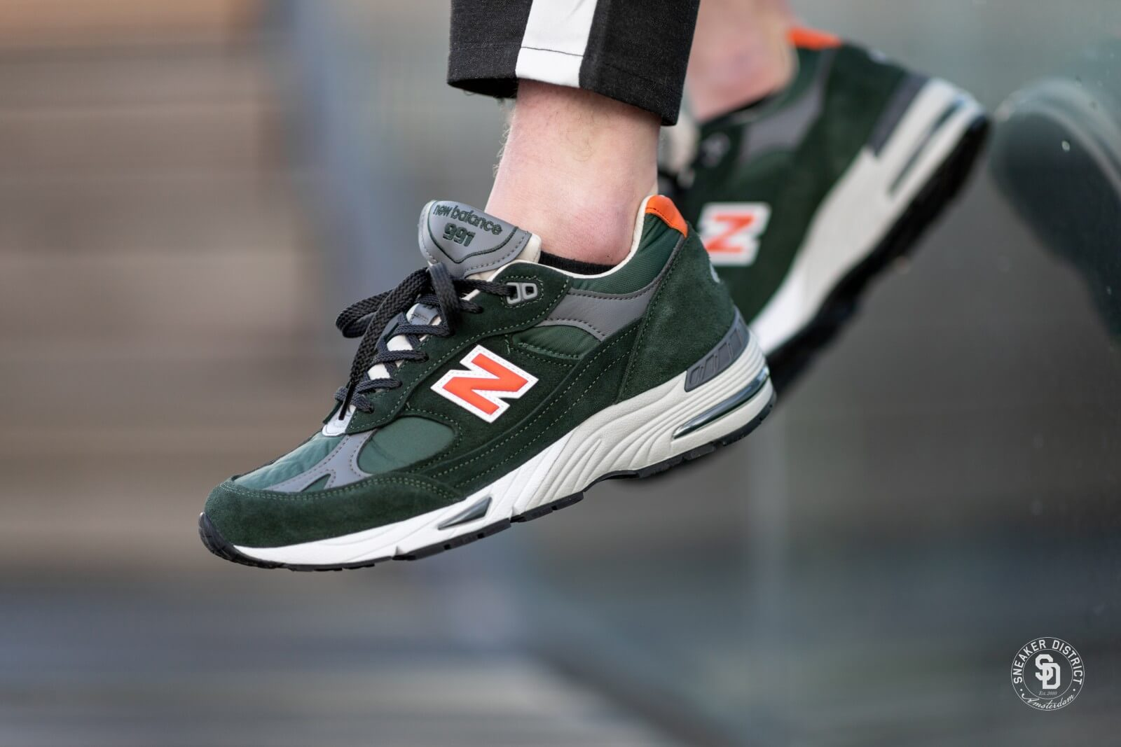 New Balance M991TNF Green/Orange Made in England - 702211-60-6
