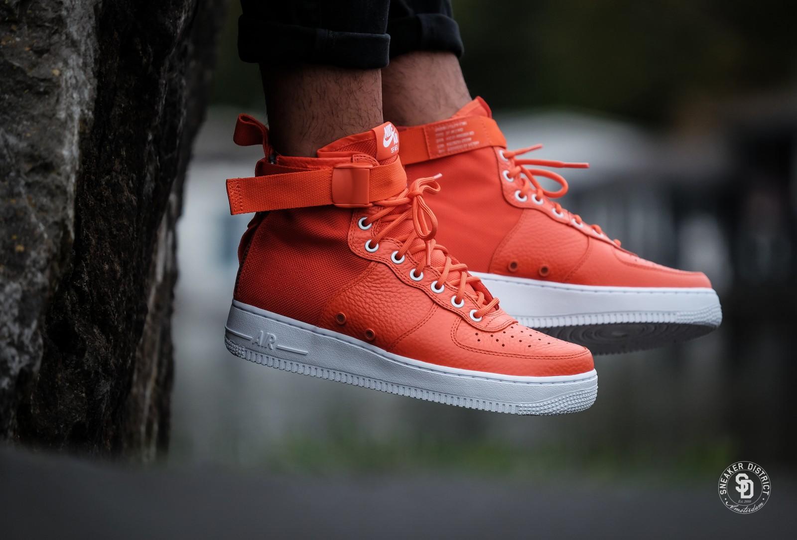 air force 1 mid orange