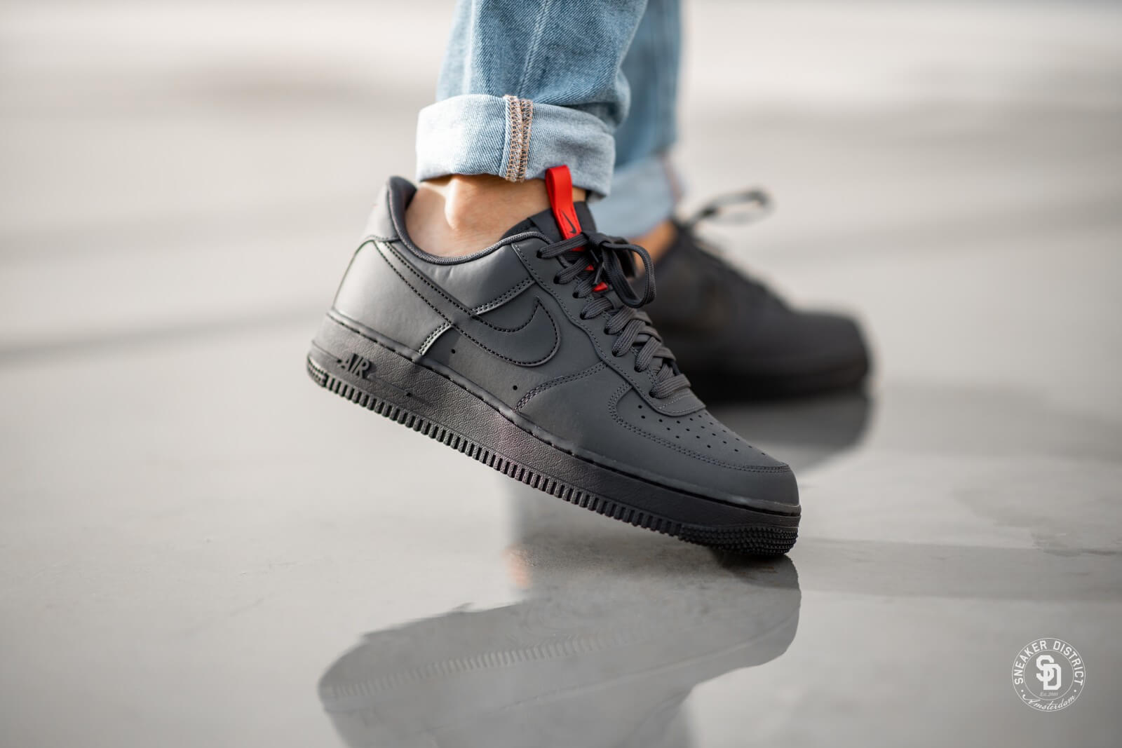 Nike Air Force 1 '07 BlackMica Green Ridgerock Men's Shoe