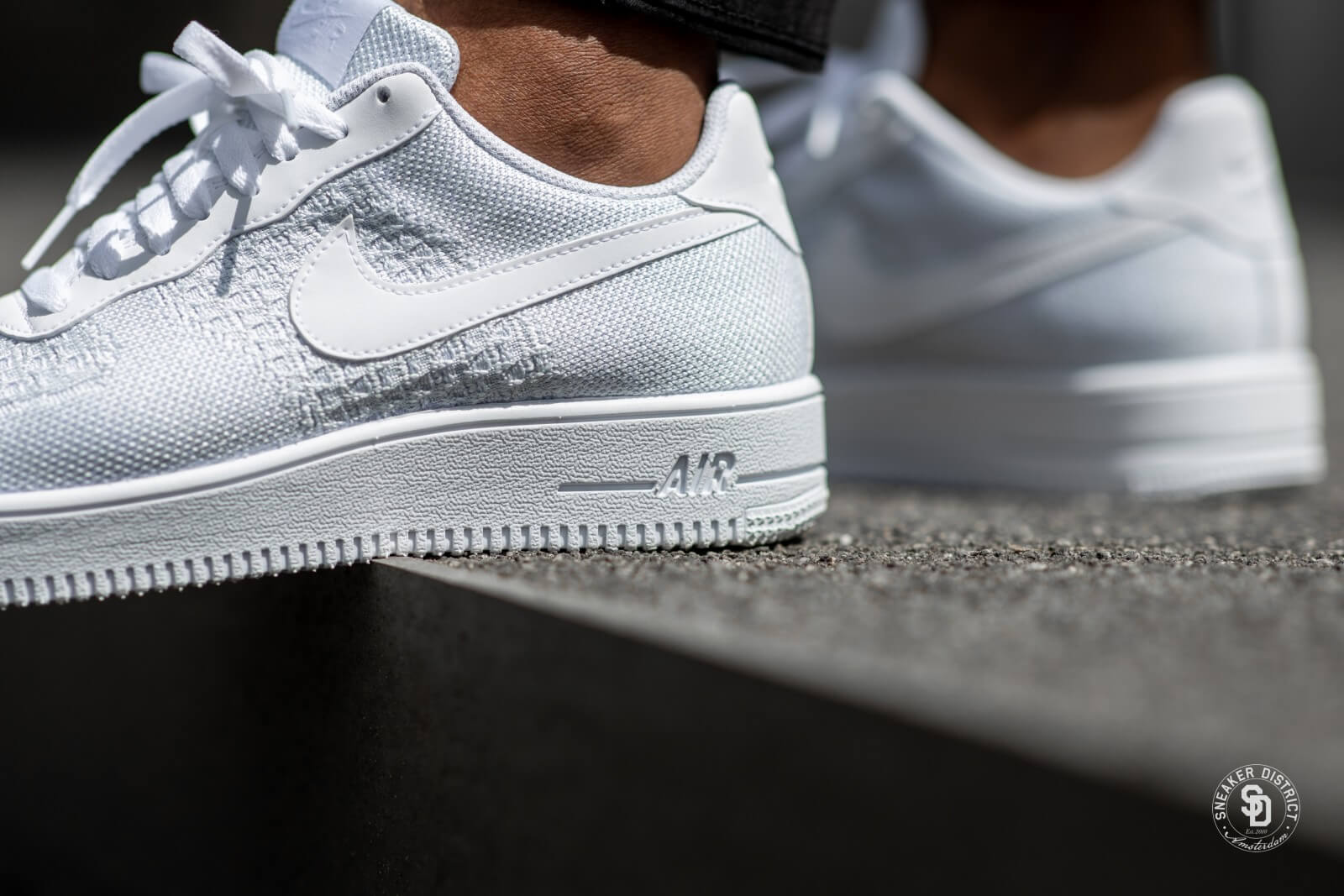 Nike Air Force 1 Flyknit 2.0 White/Pure Platinum - AV3042-100