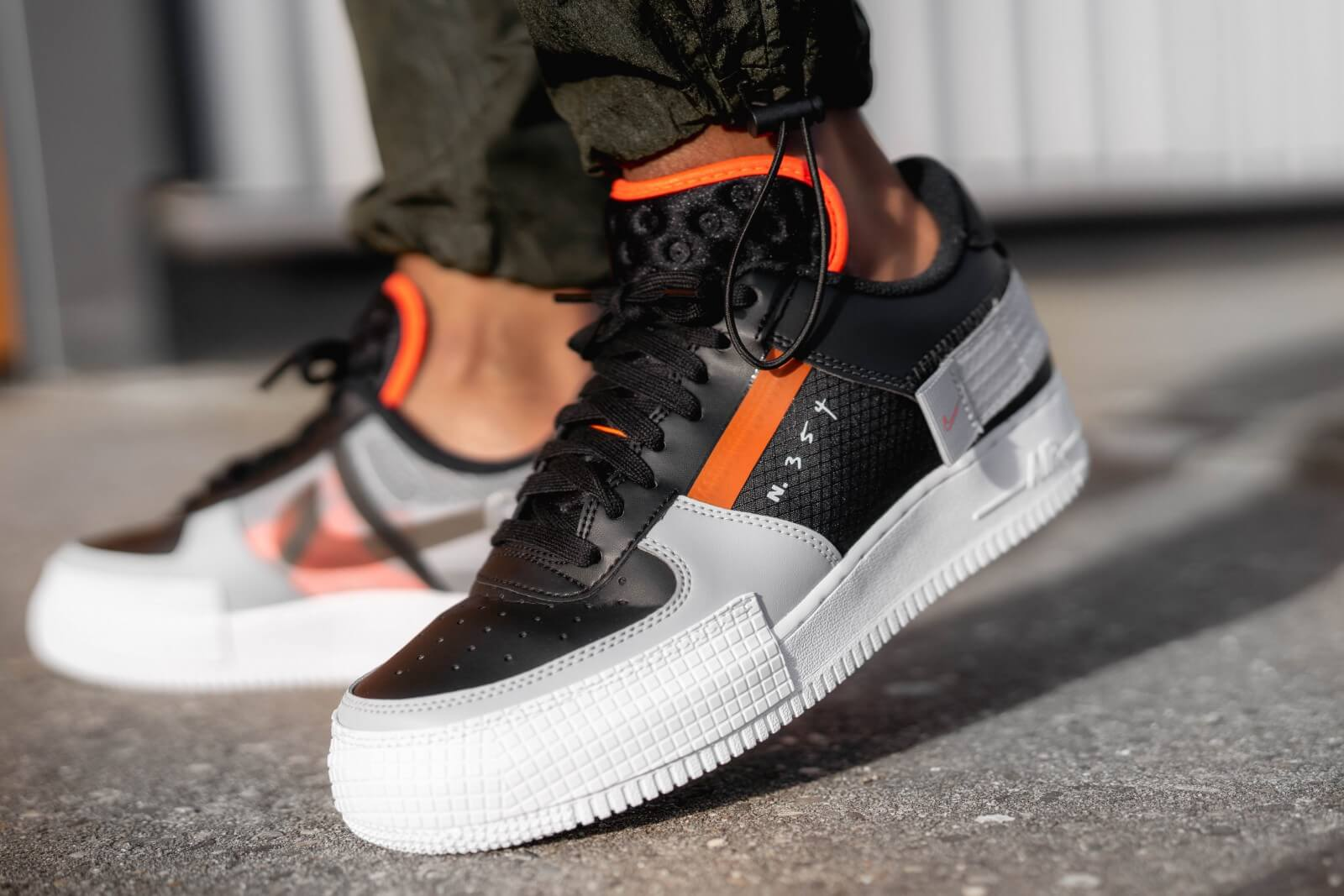 Nike Air Force 1 Type Black/Hyper Crimson - CQ2344-001