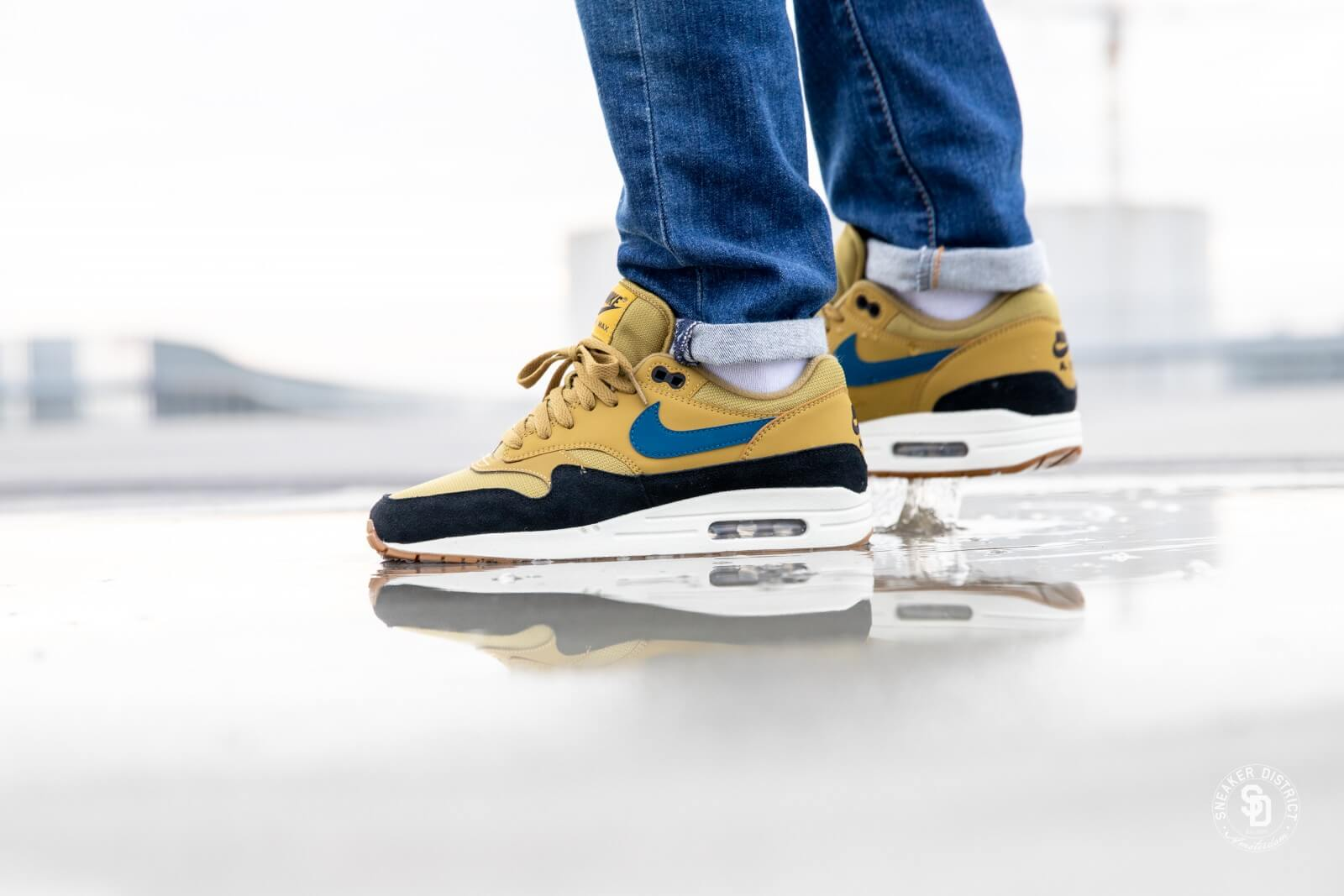 Nike Air Max 1 Golden MossBlue Force Black AH8145 302