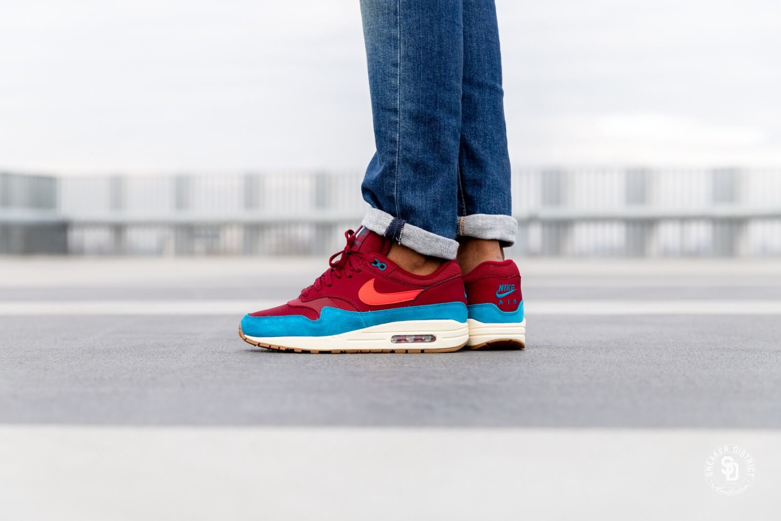 online here latest half price Nike Air Max 1 Team Red/Red Orbit-Green Abyss - AH8145-601