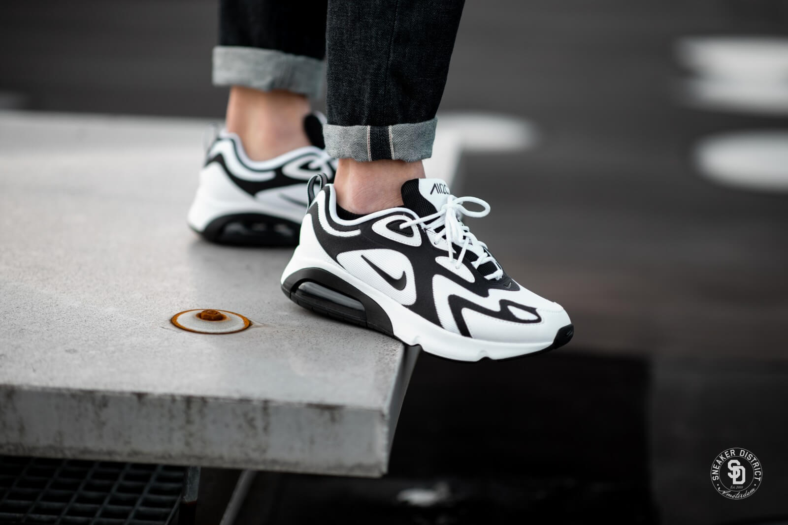nike air max 200 white black white