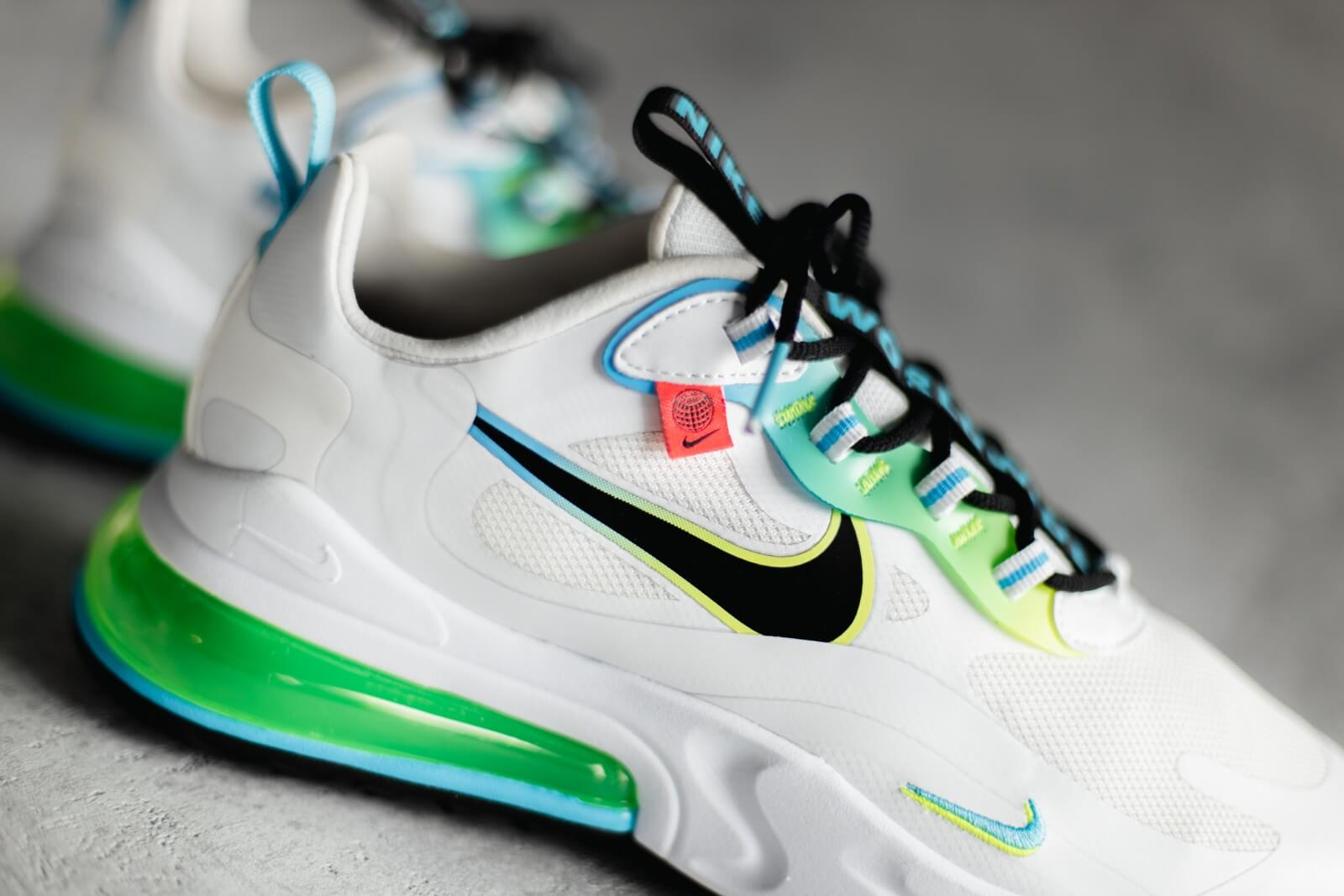 Nike Air Max 270 React Se Worldwide Pack White Black Blue Fury